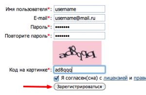 Заполнение регистрационный формы Gogetlinks net