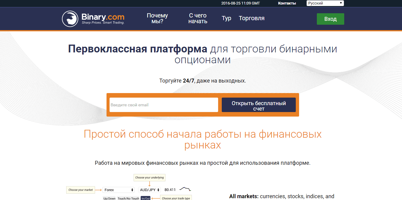 Официальный сайт Binary