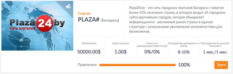 Успешный стартап на ShareInStock