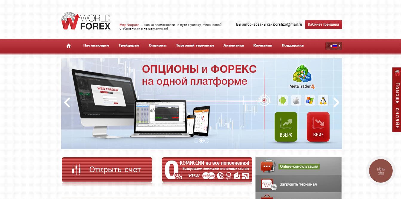 Официальный сайт World Forex