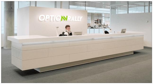 Один из офисов брокера OptionRally