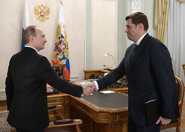 Алексей Мордашов на встрече с Владимиром Путиным