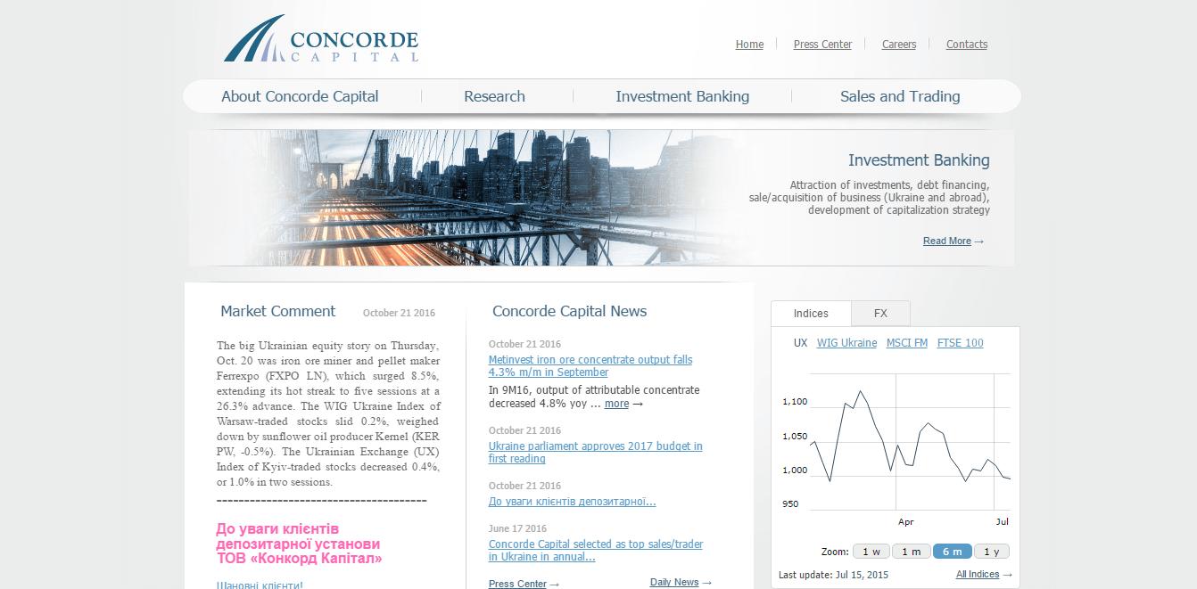 Официальный сайт Concord Capital