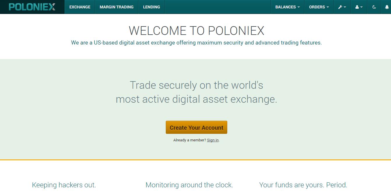 Официальный сайт Poloniex