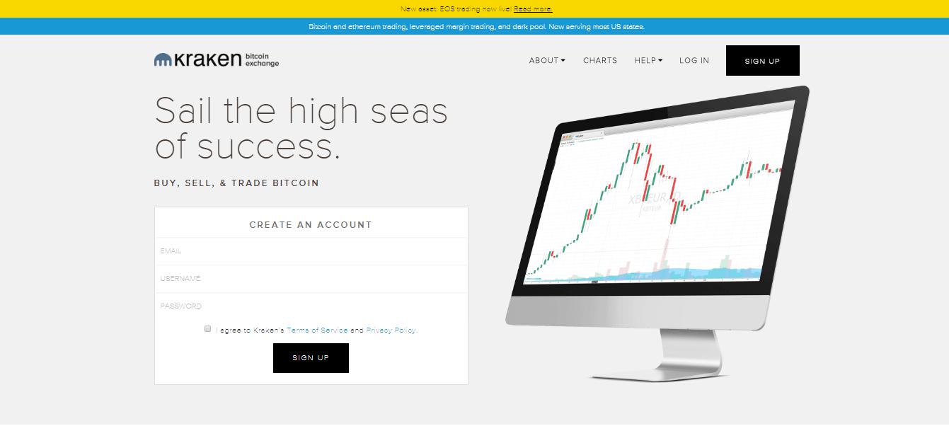 Официальный сайт Kraken