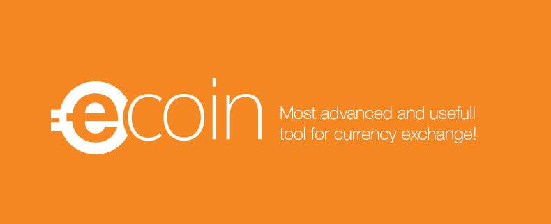 Биржа криптовалют eCoin