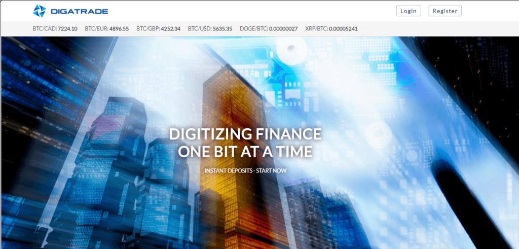 Официальный сайт Digatrade