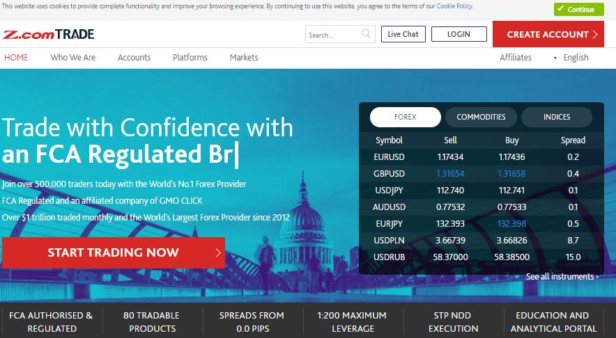 Главная страница биржи Z.com