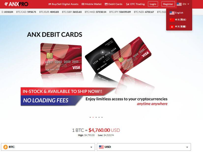 Биржа криптовалют ANXPRO