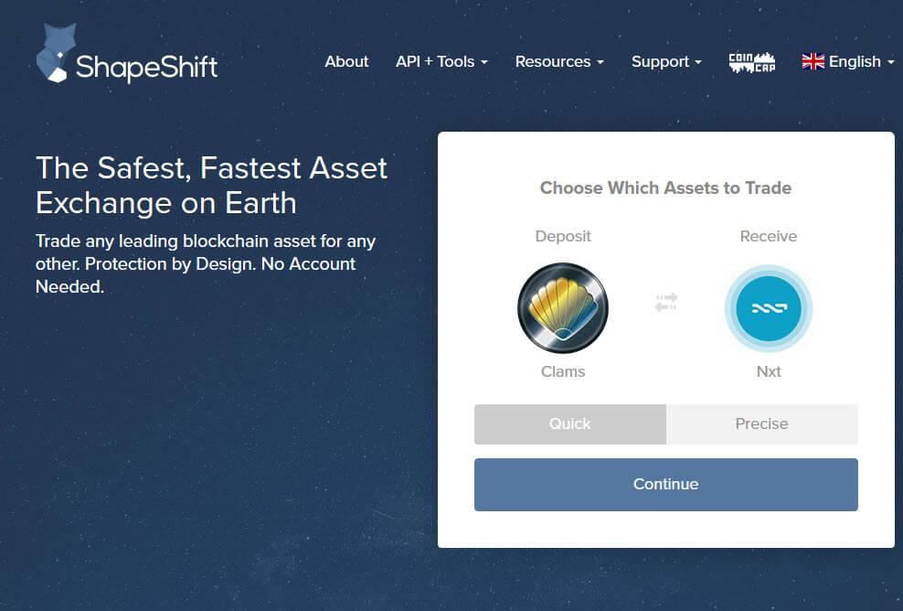 Биржа криптовалют ShapeShift