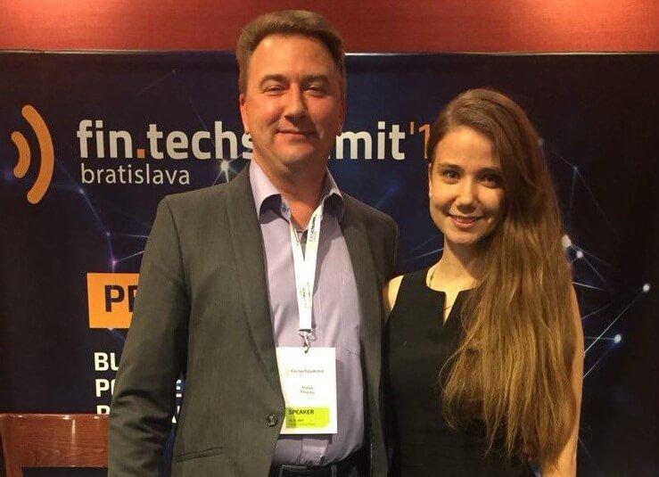 Руслан Васютин, CMO Datarius, в качестве спикера на FinTech в Братиславе