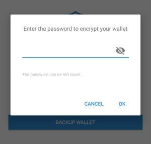 Придумайте пароль для безопасного пользования кошельком