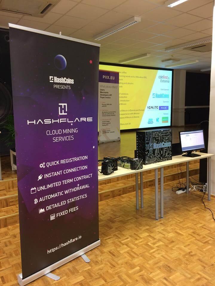 Сервис HashFlare на конференции