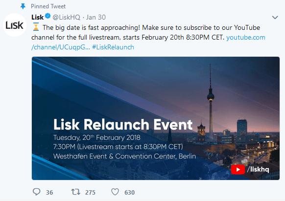 20 февраля состоится онлайн конференция от разработчиков Lisk