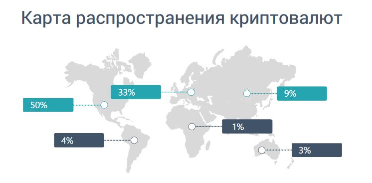 Карта распространения криптовалют: а вы знали?