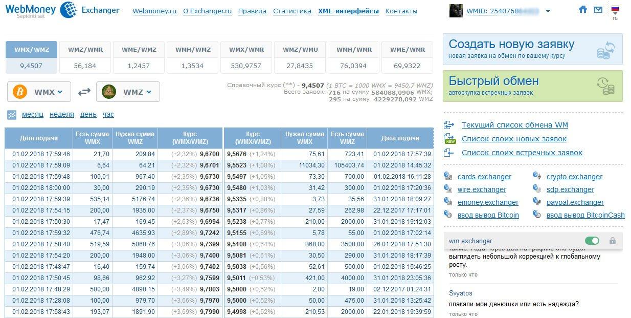 обменный пункт wm.exchanger.ru