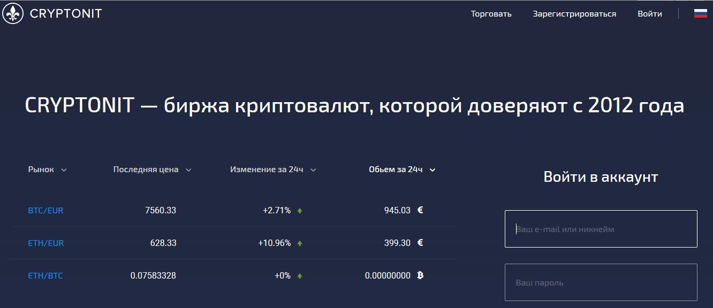 официальный сайт cryptonit