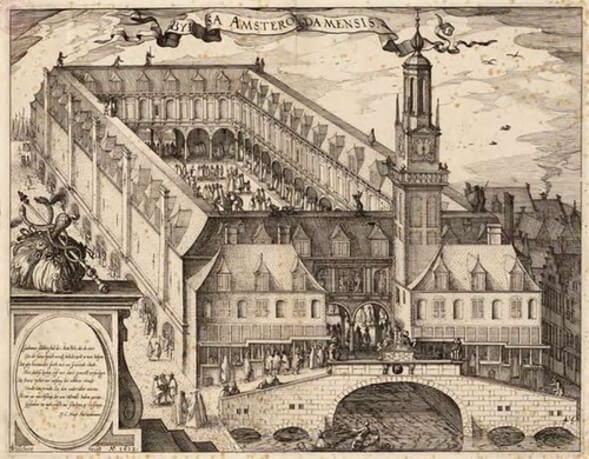 Первая фондовая биржа в Амстердаме