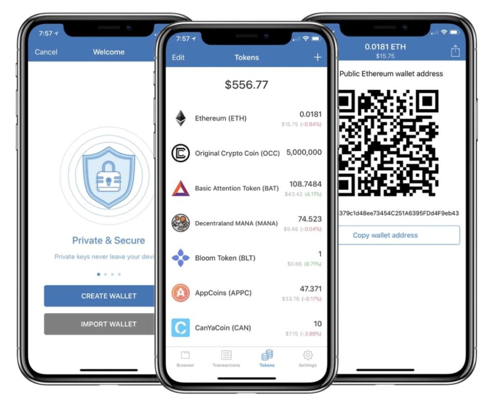 Приложение Trust Wallet легкое в использовании