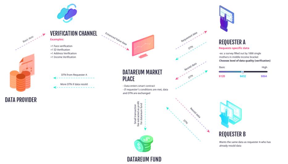 Datareum — децентрализованный рынок данных