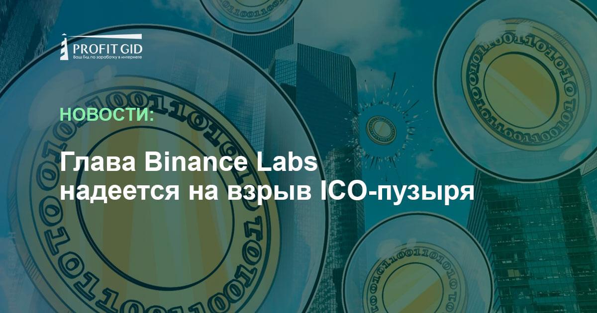 Приличные проекты появятся после исчезновения хайпа вокруг пузыря ICO— руководитель Binance Lab