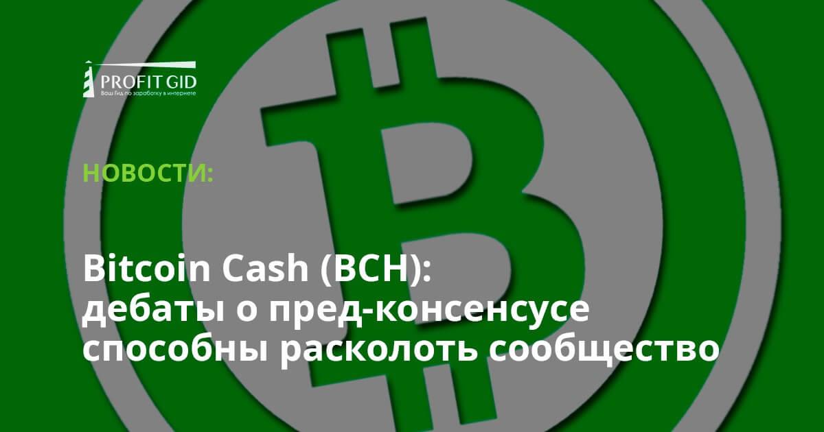 Bitcoin Cash (BCH): дебаты о пред-консенсусе способны расколоть сообщество