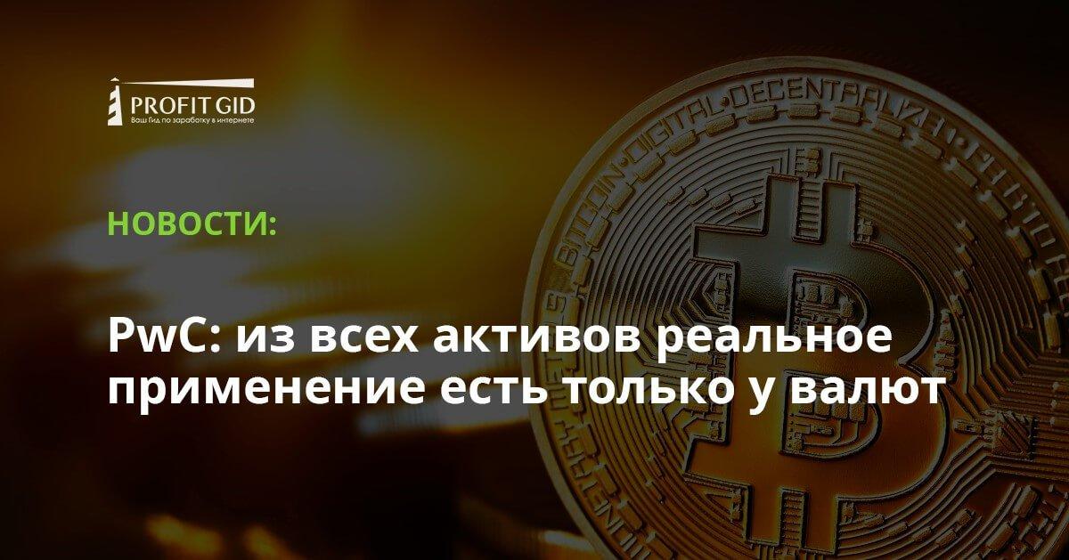 PwC: из всех активов реальное применение есть только у валют
