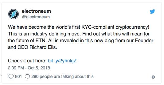 Electroneum: первая в мире криптовалюта, использующая систему KYC