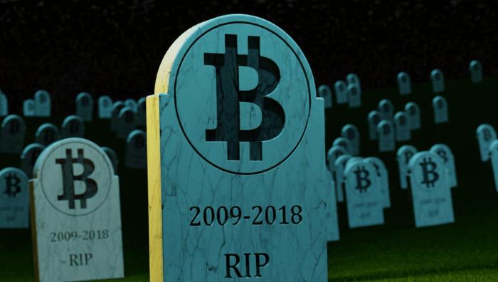Bitcoin «умирал» 90 раз в 2018 году