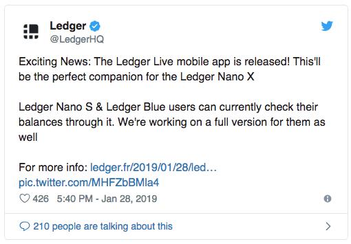 Ledger Live теперь доступен на Android и iOS