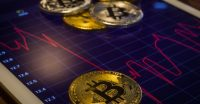 обвал цены Bitcoin, нефти Brent
