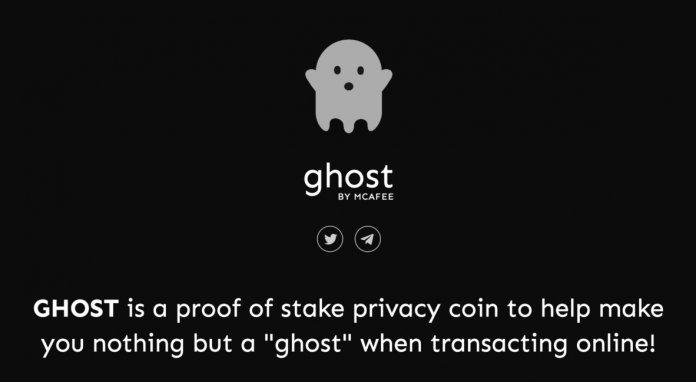 У проекта также есть свой сайт с мультяшным призраком и несколькими небольшими описаниями нового актива.