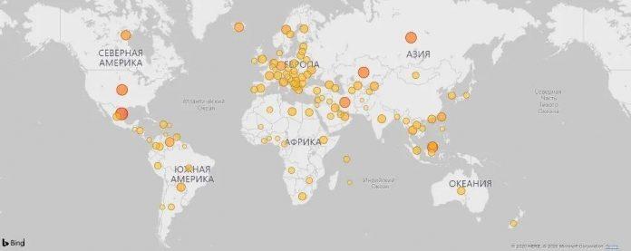 Карта майнинга биткоина