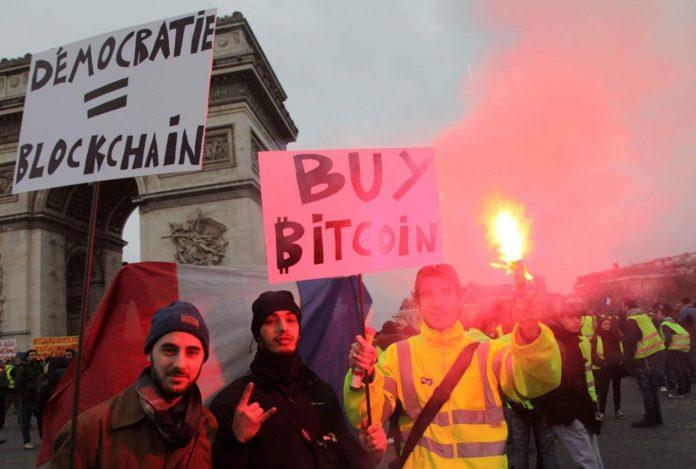 Протесты и криптовалюты