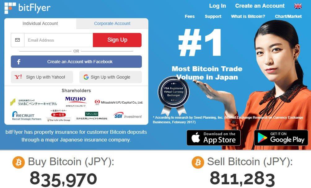 Биржа криптовалют Bitflyer